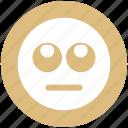 bored, emoji, expression, eyes, face, smiley, up eyes icon