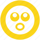 board eyes, emoji, emoticons, expression, face, shocked, smiley icon