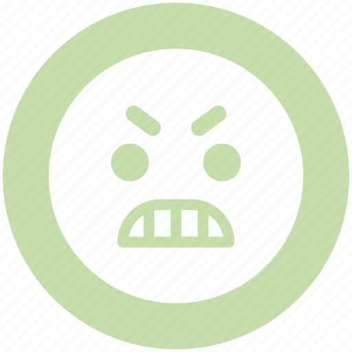 angry, angry face, emoji, emoticons, expression, face, smiley icon