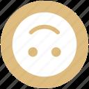 down, emoji, emoticon, face, happy, smiley face, upside icon