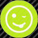 cheeky, emoticons, emotion, expression, face smiley, nodding, yawn icon