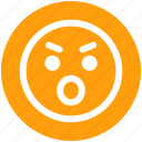 angry, emoticons, emotion, emotional, expression, eyebrow smiley, stare emoticon icon