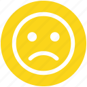 bemused face, emoticons, eyebrows, furrow, sad, smiley, upset icon