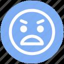 emoticons, emotion, expression, gaze emoticon, rage, smiley, stare emoticon icon
