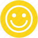 cheerful, emoticon, face, happy, person, smile, smiley icon