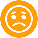 angry, bored, disappointed, emoticon, face, sad, unamused