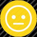 boring, dull, emoticons, emotion, face smiley, smiley, stare emoticon icon