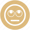 bored, emoji, expression, eyes, face, smiley, up eyes icon
