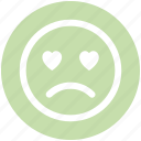 adoring, baffled emoticon, crying, face, face expression, sad, weeping icon