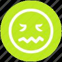 emoticons, emotion, face smiley, lip seal, lour, rage, sad icon