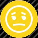 emoticons, emotional, nodding, sad, see, smiley, twinkle icon