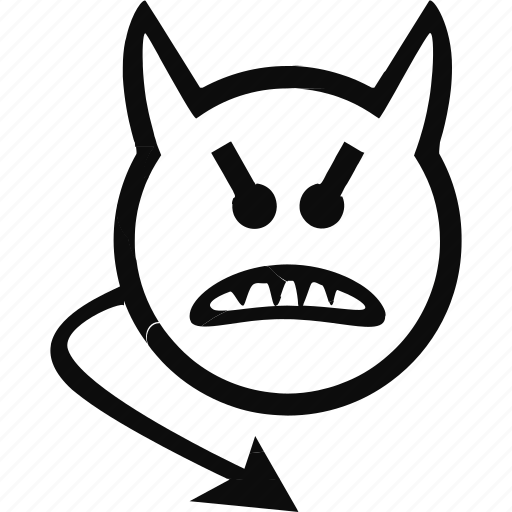 devil, emoji, emoticon, evil, face icon
