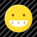 emoji, emoticon, emotions, face, grimace, smiley, teeth icon