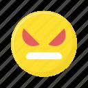angry, annoyed, emoji, emoticon, emotion, smiley icon