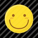 blush, embarassed, emoticon, emotion, face, smiley icon