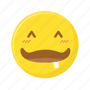 drooling, expression, face, happy, newborn, saliva, smiley icon