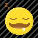 dreaming, drooling, saliva, sleep, sleeping, smiley icon