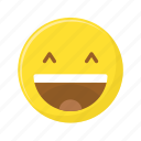 emoji, emoticon, face, happy, laughing, lol, smiley icon