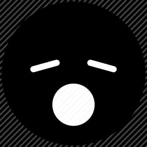 emoticons, emotion, expression, face smiley, sleep and open mouth, sleepy, sleepy and open mouth, smiley icon