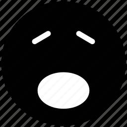 amazed face, sad, worried, yawn icon
