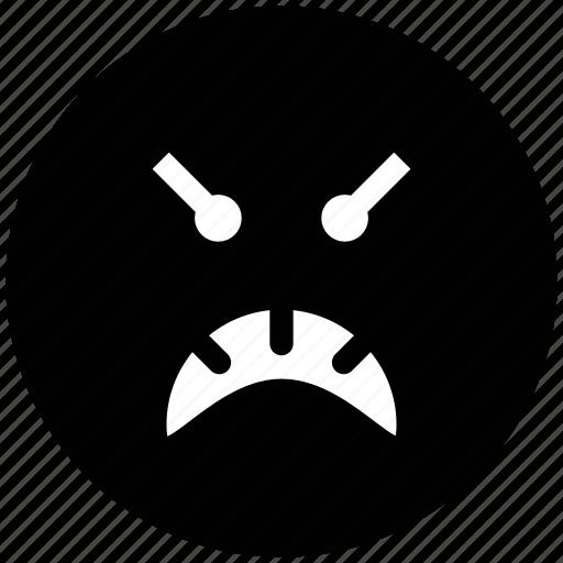 emoticons, emotion, expression, face smiley, gaze emoticon, hyper, mind, rage, sad, smiley icon