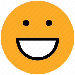 emoticon, emotion, expression, face, happy, laugh, smile, smiley icon