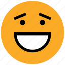 adoring, emoticons, emotion, expression, face smiley, happy, laughing, smiley icon