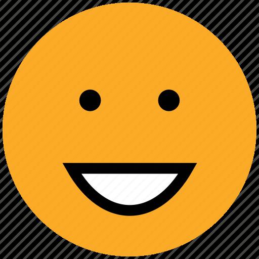 emoticons, emotion, expression, face smiley, happy, nodding, smiley icon