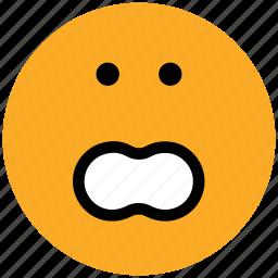 emoticons, emotion, expression, face smiley, smiley, stare emoticon, surprised icon