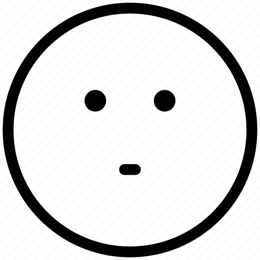 emoticons, emotion, expression, face smiley, smiley, stare emoticon icon