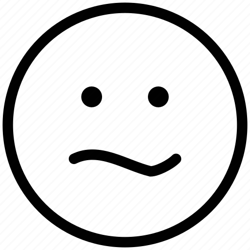 bemused face, emoticons, emotion, expression, face smiley, smiley, stare emoticon icon