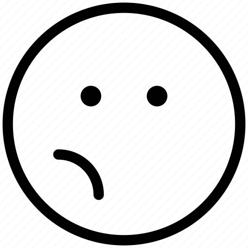 bemused face, emoticons, emotion, expression, face smiley, smiley icon