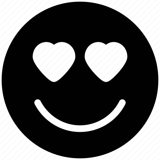 adoring, emoticons, hear eye, heart, in love, love, loving, romance, smiley icon