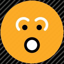 baffled emoticon, emoticons, emotion, expression, face smiley, smiley, stare emoticon icon