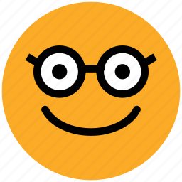 emoticon, geek, glasses face, nerd, nerdy face emotion, smiley, stare emoticon icon