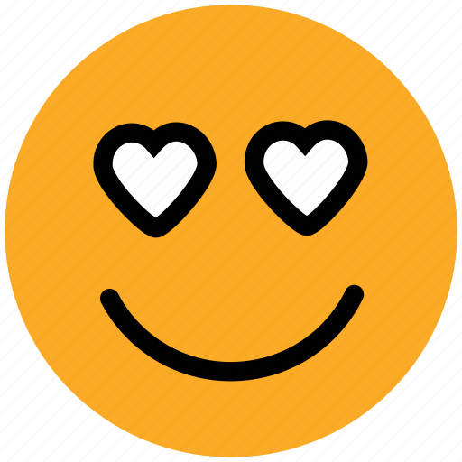 adoring, emoticons, hear eye, heart, in love, love, loving, romance icon
