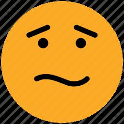 confused, emoticons, emotion, expression, face smiley, puzzle, sad, smiley icon