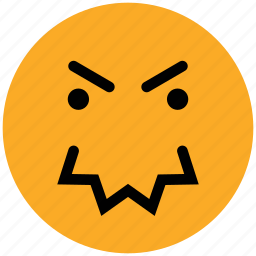 anger, angry, expression, face, smiley icon