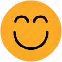 emoticons, emotion, excited, expression, face smiley, nodding, smile, smiley icon