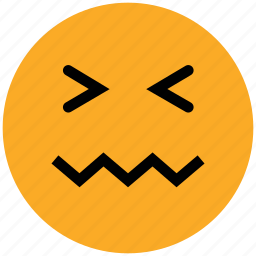 emoticons, emotion, expression, face smiley, lip seal, lour, rage, sad icon