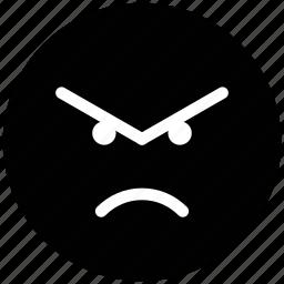 angry, emoticons, eyebrows, furrow, gaze emoticon, rage, smiley, upset icon