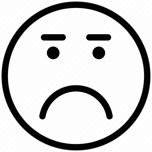 angry, bemused face, confused, emoticons, eyebrows, furrow, smiley, upset icon