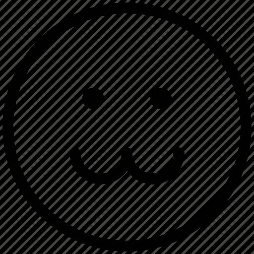 emoticons, emotion, expression, face smiley, sad, smiley, zig zag lip emoticon icon