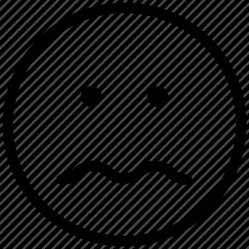 confused, face expression, puzzle, sad, sad face icon