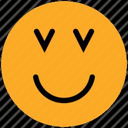 adoring, confused, emoticons, emotion, expression, face smiley, smiley icon