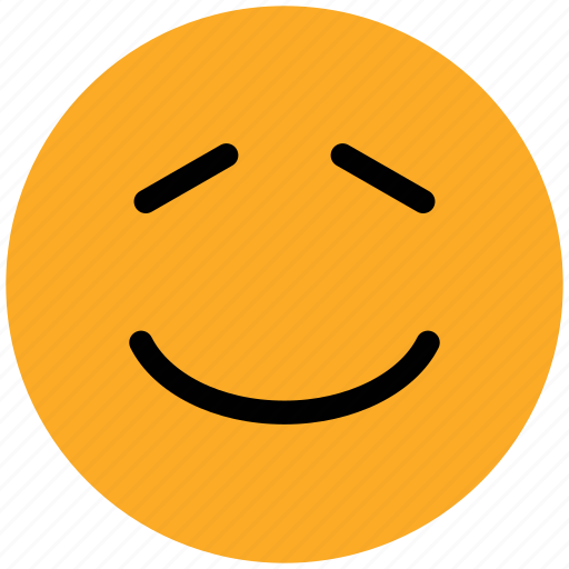 emoticon, emoticons, emotion, face, happy, nodding, smile, smiley icon