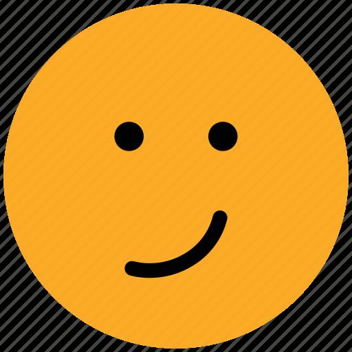 emoticons, emotion, expression, face smiley, nodding, smiley, smirking icon