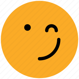 bemused face, emoticons, emotion, expression, face smiley, lour, smiley, wink icon
