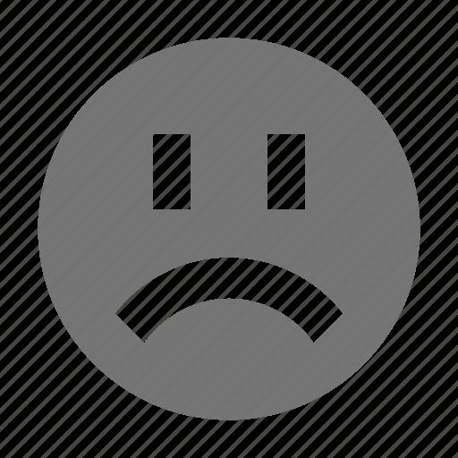 angry, emoji, frown, sad icon