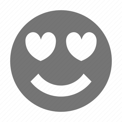emoji, hearts, love, smile icon